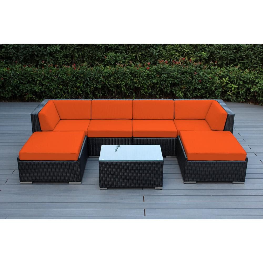 Best ideas about Ohana Patio Furniture . Save or Pin Ohana Depot Ohana Black 7 Piece Wicker Patio Seating Set Now.
