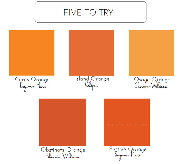 Best ideas about Orange Paint Colors . Save or Pin 5 Bold Colors For The Front Door Emily A Clark Now.