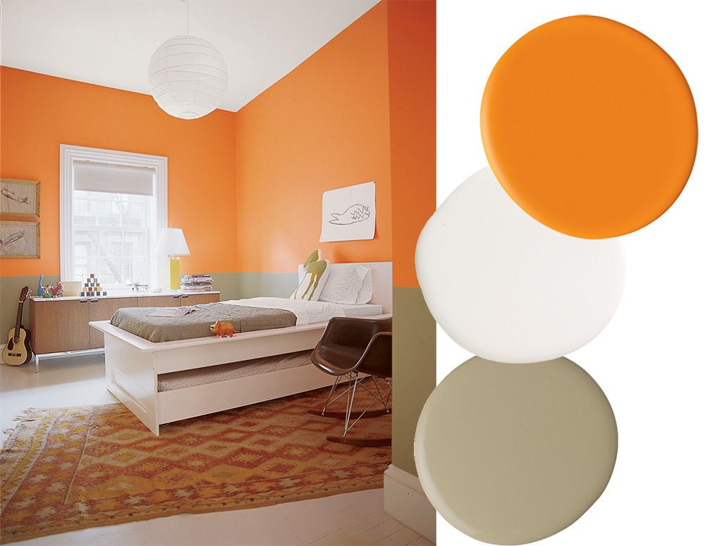 Best ideas about Orange Paint Colors . Save or Pin Best Color binations To Paint Home Interiors 2018 Now.