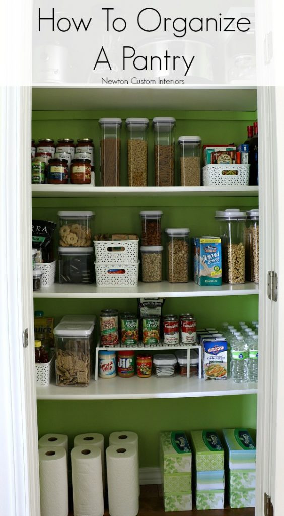 Best ideas about Organizing A Pantry . Save or Pin How To Organize A Pantry Newton Custom Interiors Now.