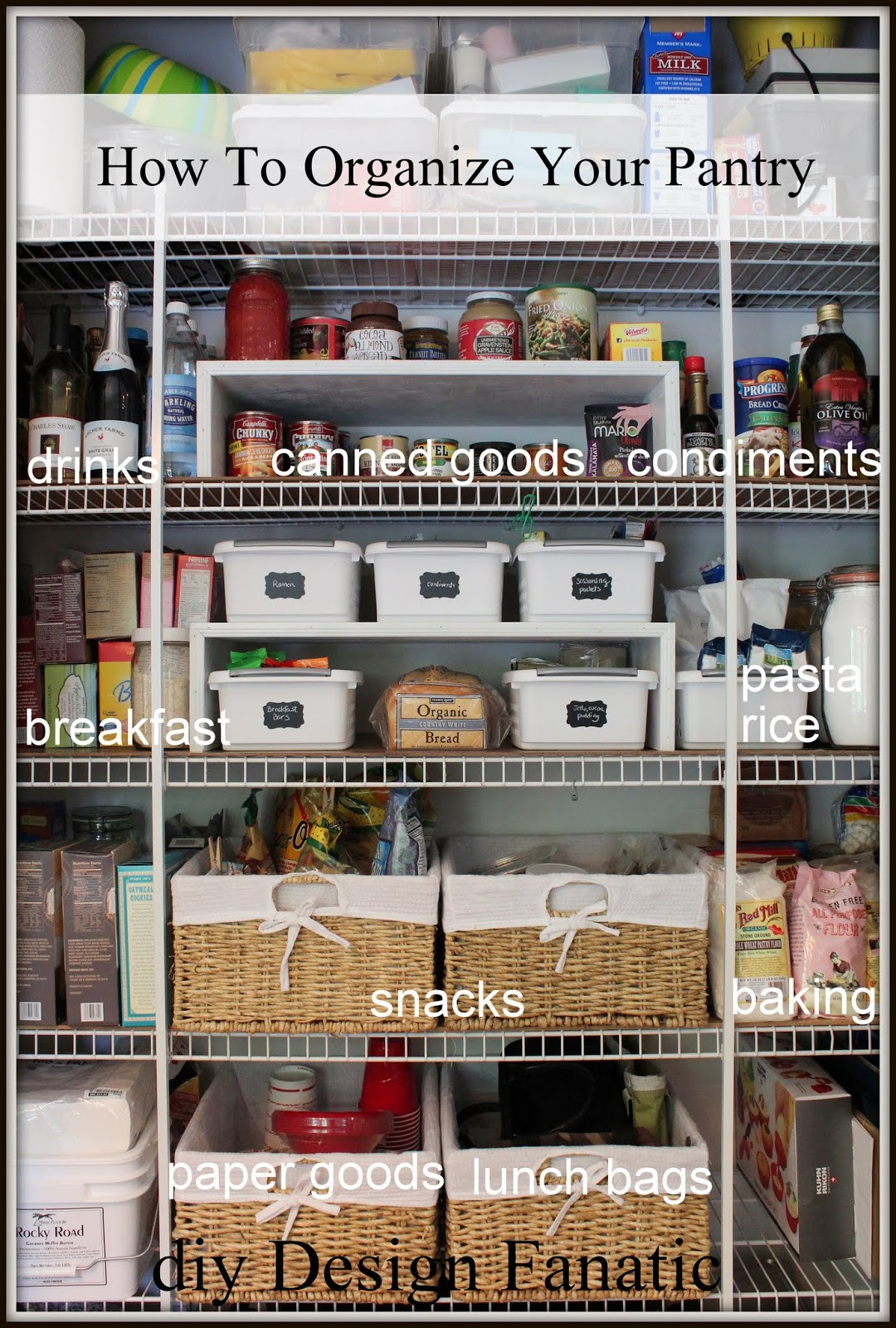 Best ideas about Organizing A Pantry . Save or Pin How To Organize A Pantry Now.