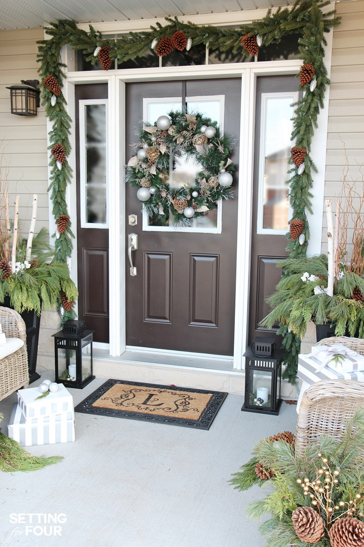 Best ideas about Outdoor Christmas Decor . Save or Pin Holiday Cheer Outdoor Christmas Decorations Setting for Four Now.