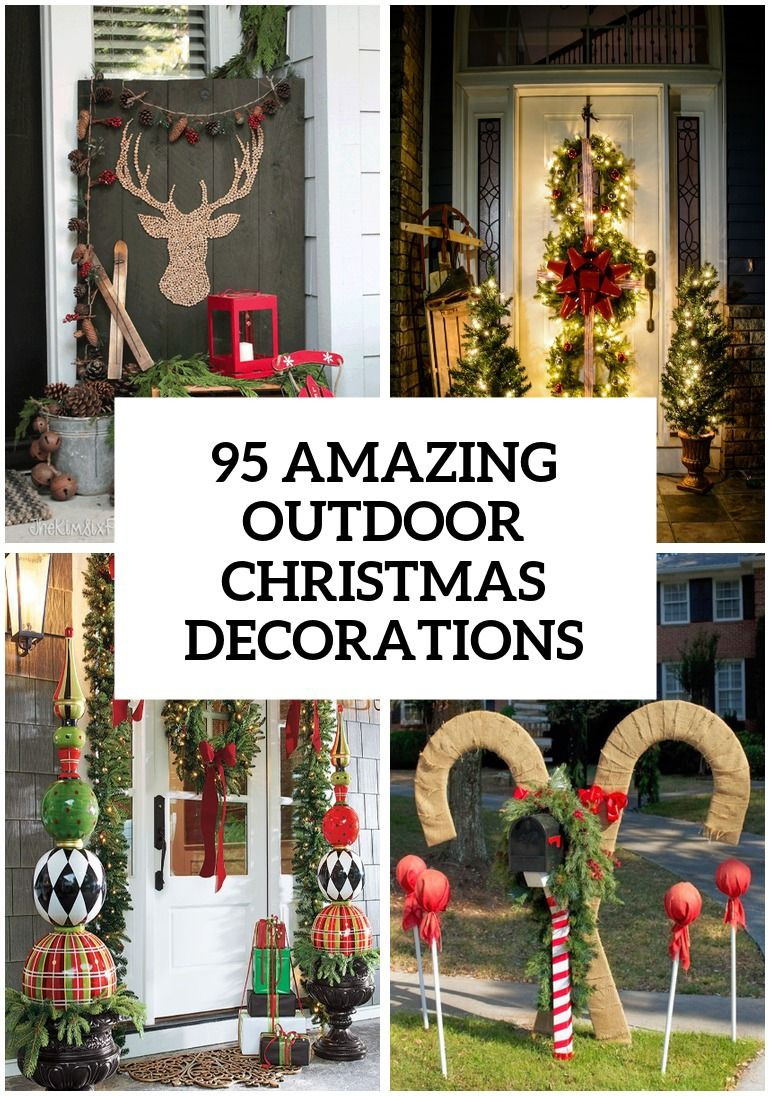 Best ideas about Outdoor Christmas Decor . Save or Pin 95 Amazing Outdoor Christmas Decorations Now.