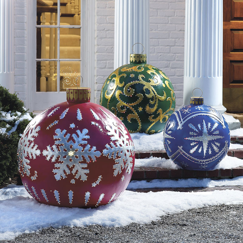 Best ideas about Outdoor Christmas Decor . Save or Pin Massive Outdoor Lighted Christmas Ornaments The Green Head Now.