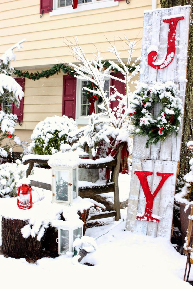 Best ideas about Outdoor Christmas Decor . Save or Pin Best 25 Front porch signs ideas on Pinterest Now.