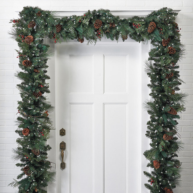 Best ideas about Outdoor Christmas Garland . Save or Pin Classic Pre lit Christmas Garland Christmas Decor Now.