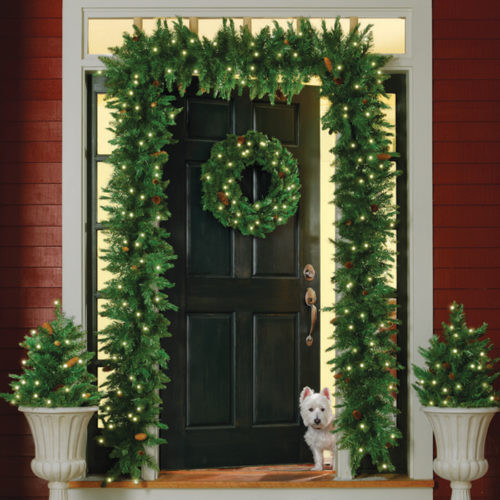 Best ideas about Outdoor Christmas Garland . Save or Pin Garland christmas lights outdoor 15 fancy decorative Now.