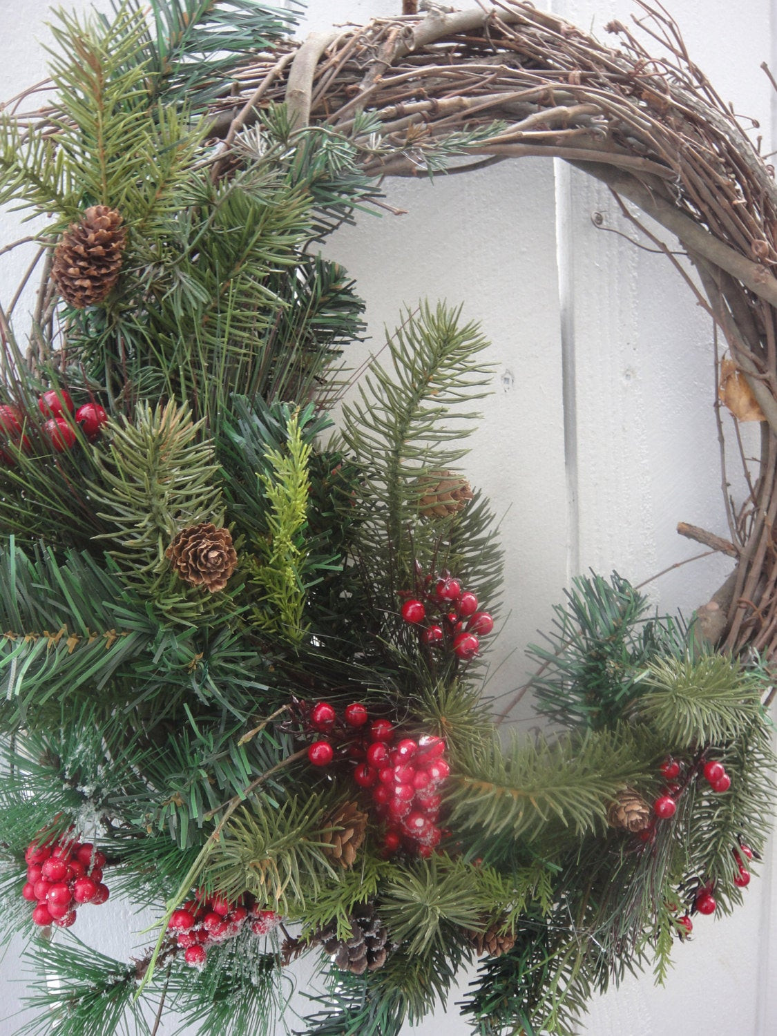 Best ideas about Outdoor Christmas Garland . Save or Pin Christmas Wreath Outdoor Wreath Holiday Wreath by donnahubbard Now.