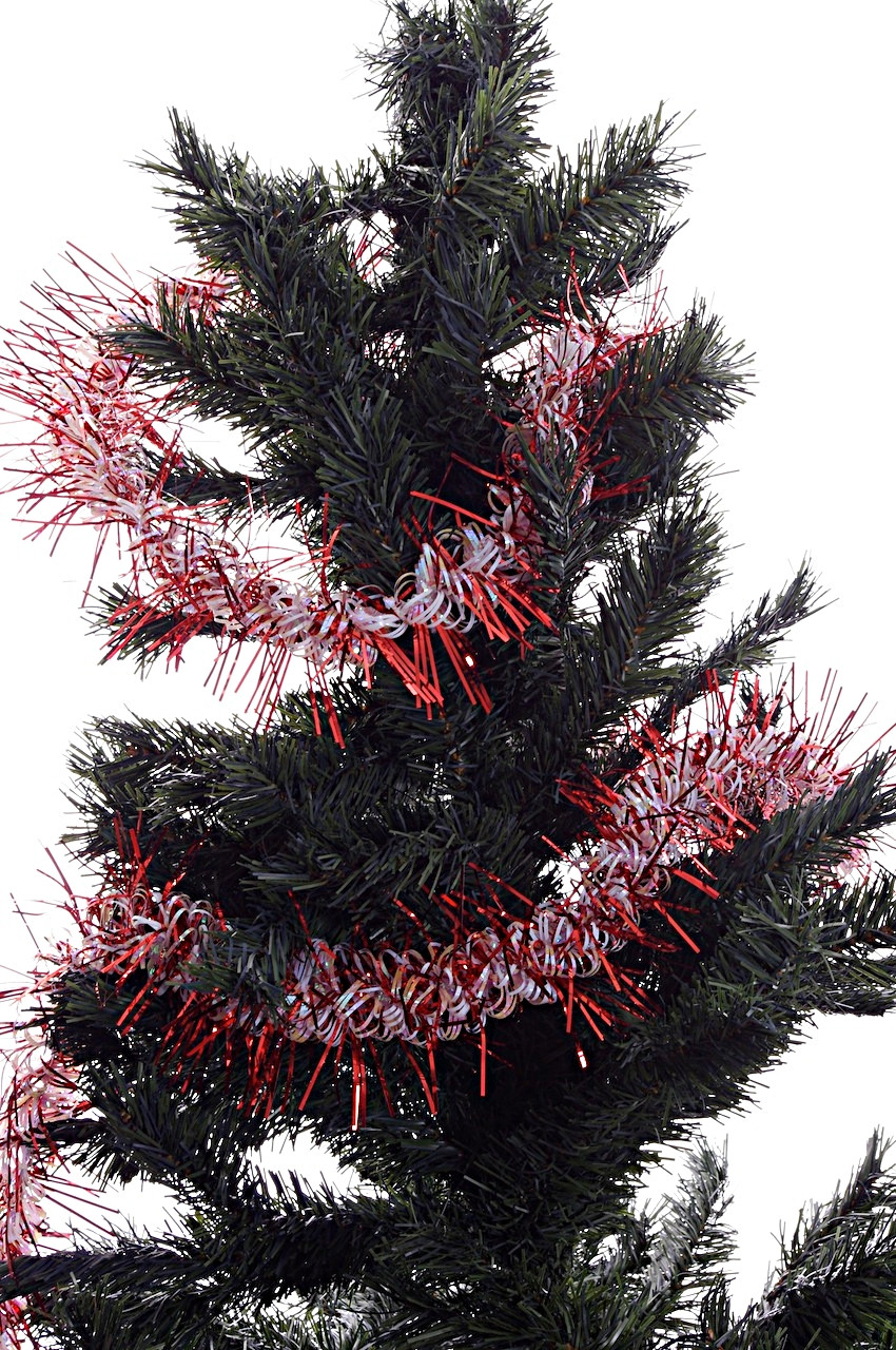 Best ideas about Outdoor Christmas Garland . Save or Pin Red & White Christmas Tree Garland Decoration Indoor Now.