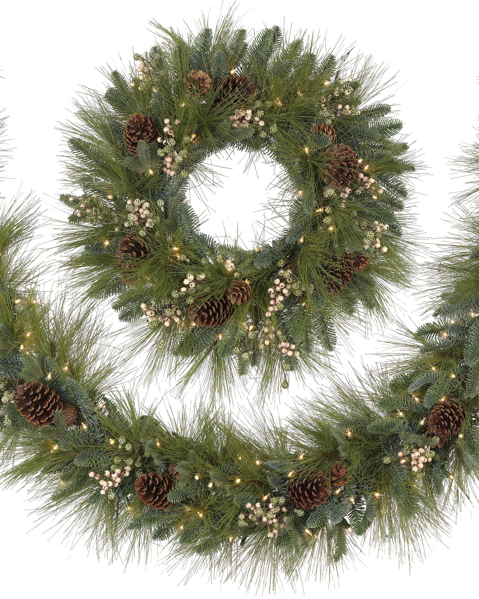 Best ideas about Outdoor Christmas Garland . Save or Pin Harvest Pine Christmas Wreath and Garland Now.