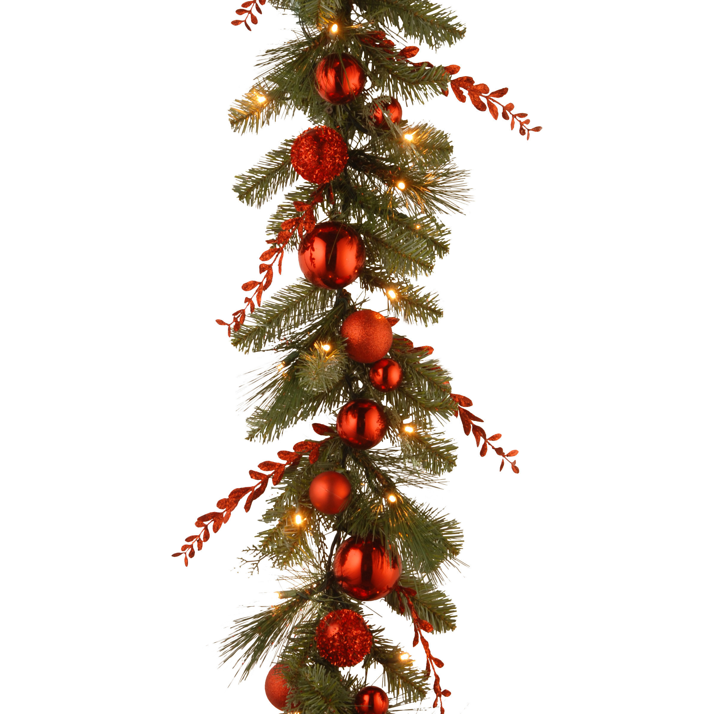 Best ideas about Outdoor Christmas Garland . Save or Pin National Tree Co Decorative Pre Lit Christmas Mixed Now.