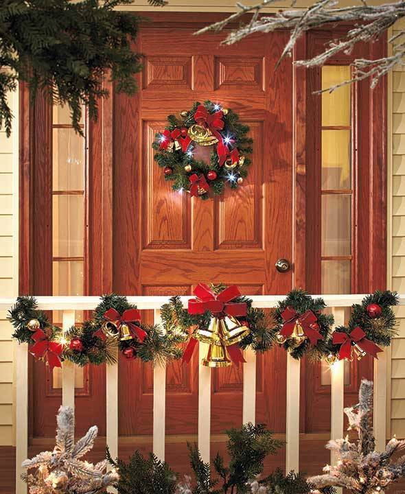 Best ideas about Outdoor Christmas Garland . Save or Pin Lighted Jingle Bell Wreath or Garland Christmas Now.