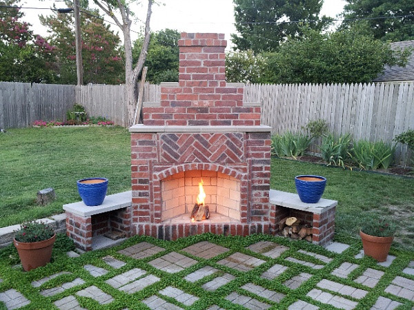 Best ideas about Outdoor Fireplace DIY . Save or Pin Outdoor DIY Outdoor Fireplace Brick Fire Pit' Stacked Now.