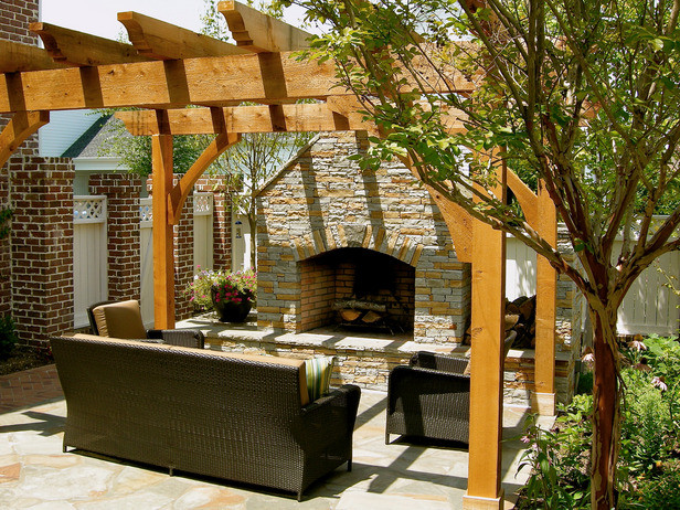 Best ideas about Outdoor Fireplace DIY . Save or Pin Outdoor Fireplace Pergola Now.