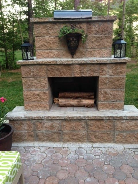 Best ideas about Outdoor Fireplace DIY . Save or Pin 214 best images about Cement block on Pinterest Now.