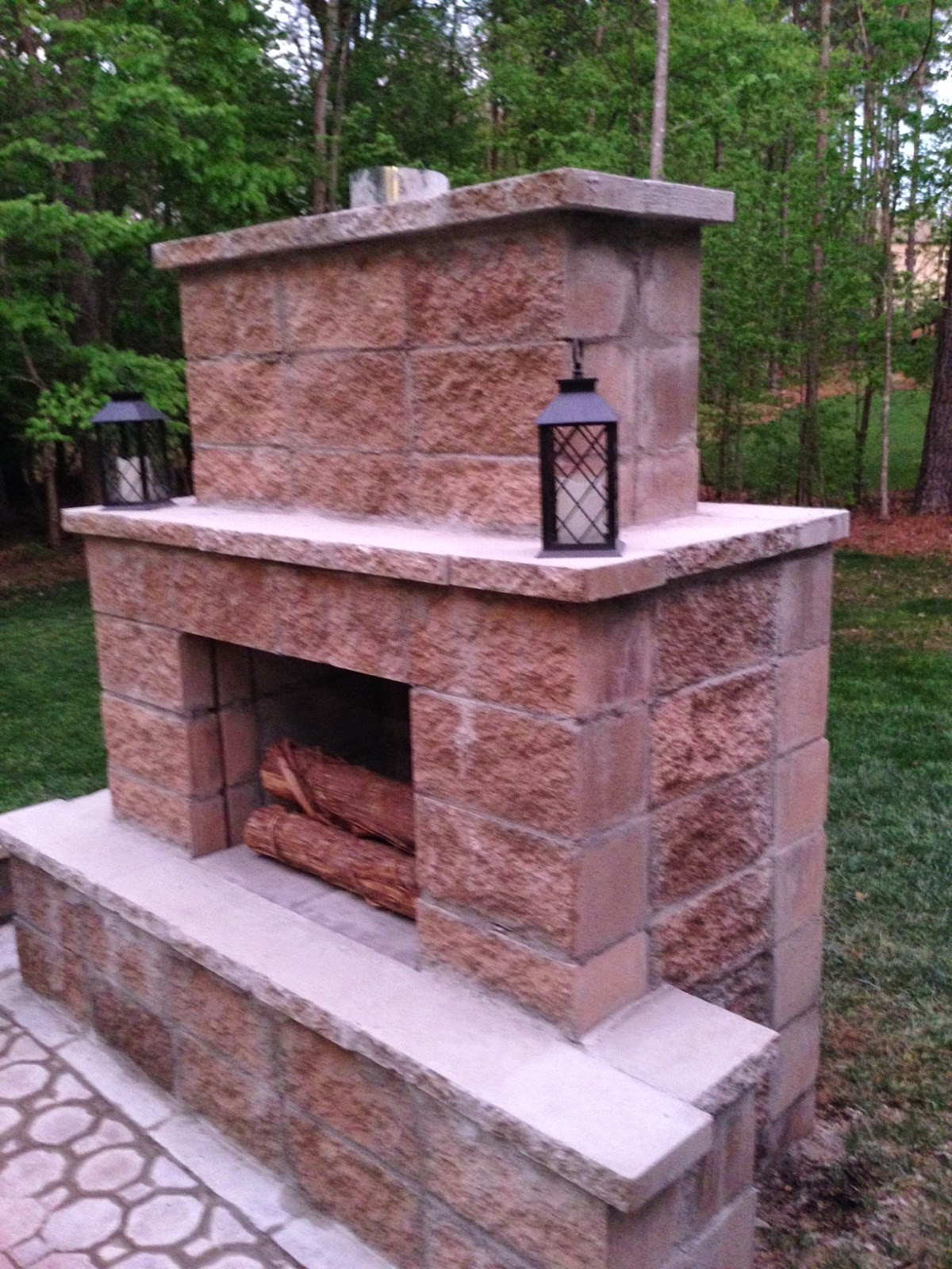 Best ideas about Outdoor Fireplace DIY . Save or Pin Life in the Barbie Dream House DIY Paver Patio and Now.