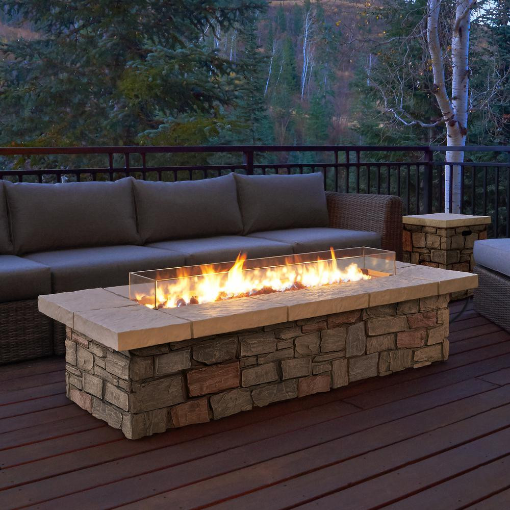 Best ideas about Outdoor Gas Fire Pits . Save or Pin Real Flame Sedona 66 in x 19 in Rectangle Fiber Concrete Now.