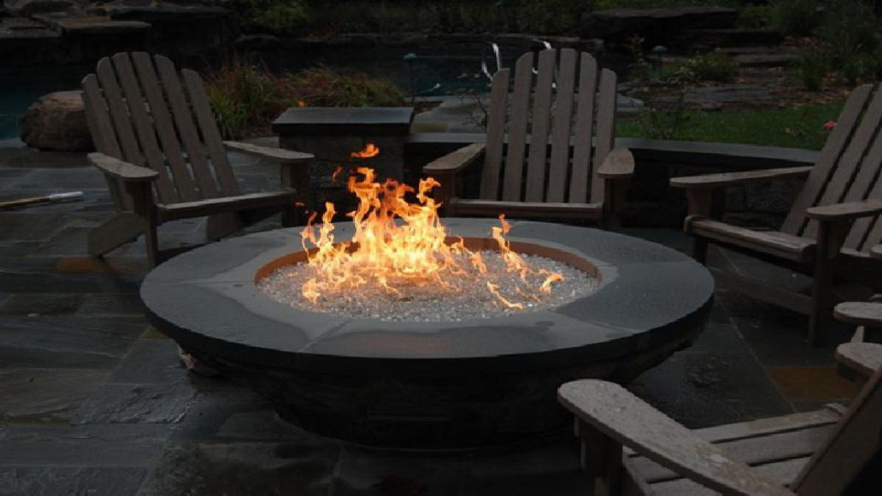 Best ideas about Outdoor Gas Fire Pits . Save or Pin Gas outdoor firepit outdoor fire pit kits outdoor gas Now.