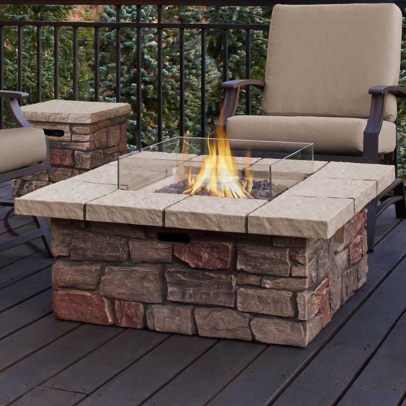 Best ideas about Outdoor Gas Fire Pits . Save or Pin Real Flame Sedona Concrete Propane Natural Gas Fire Pit Now.