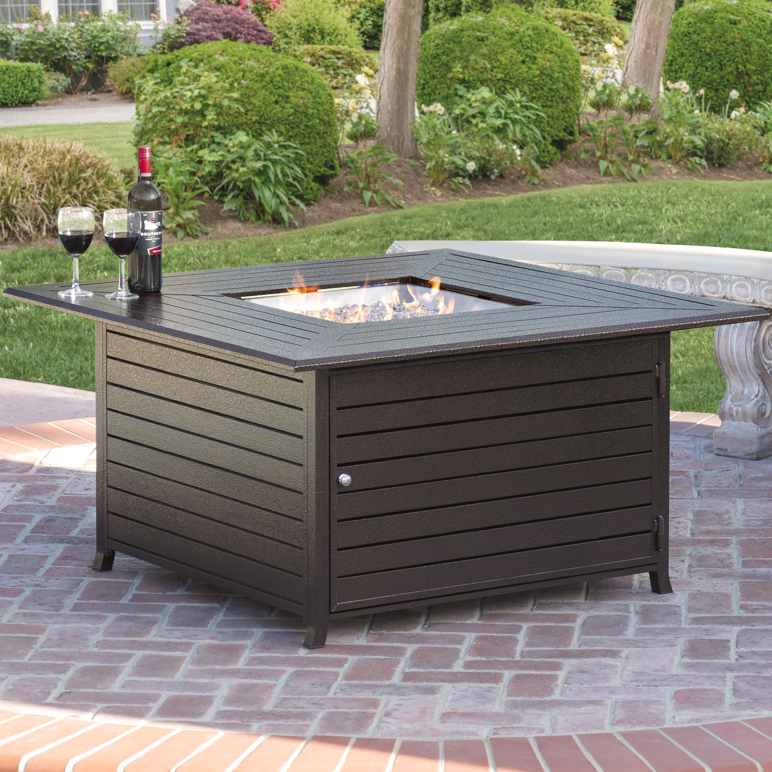 Best ideas about Outdoor Gas Fire Pits . Save or Pin Best Choice Products Extruded Aluminum Gas Outdoor Fire Now.