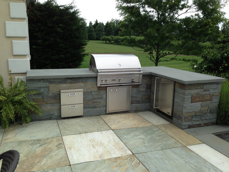 Best ideas about Outdoor Grill Enclosure . Save or Pin Bluestone BBQ enclosure with a quartzite patio in Mendham Now.