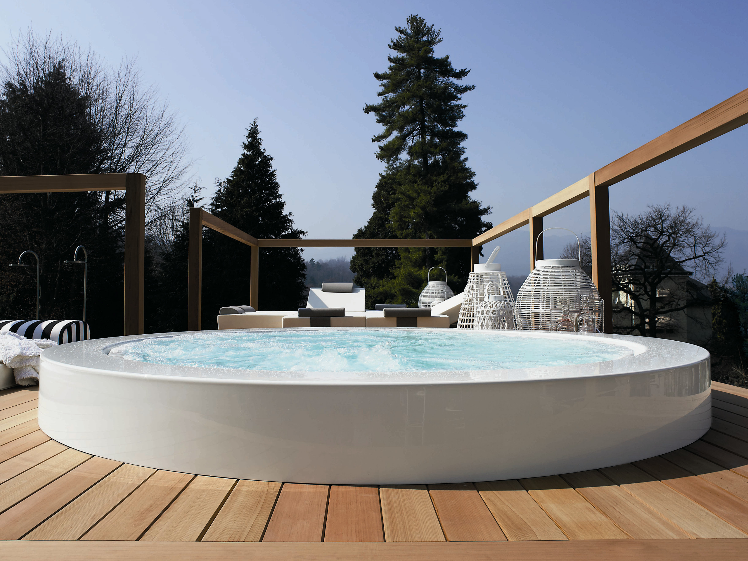 Best ideas about Outdoor Hot Tubs . Save or Pin Overflow outdoor hot tub MINIPOOL Built in hot tub by Kos Now.