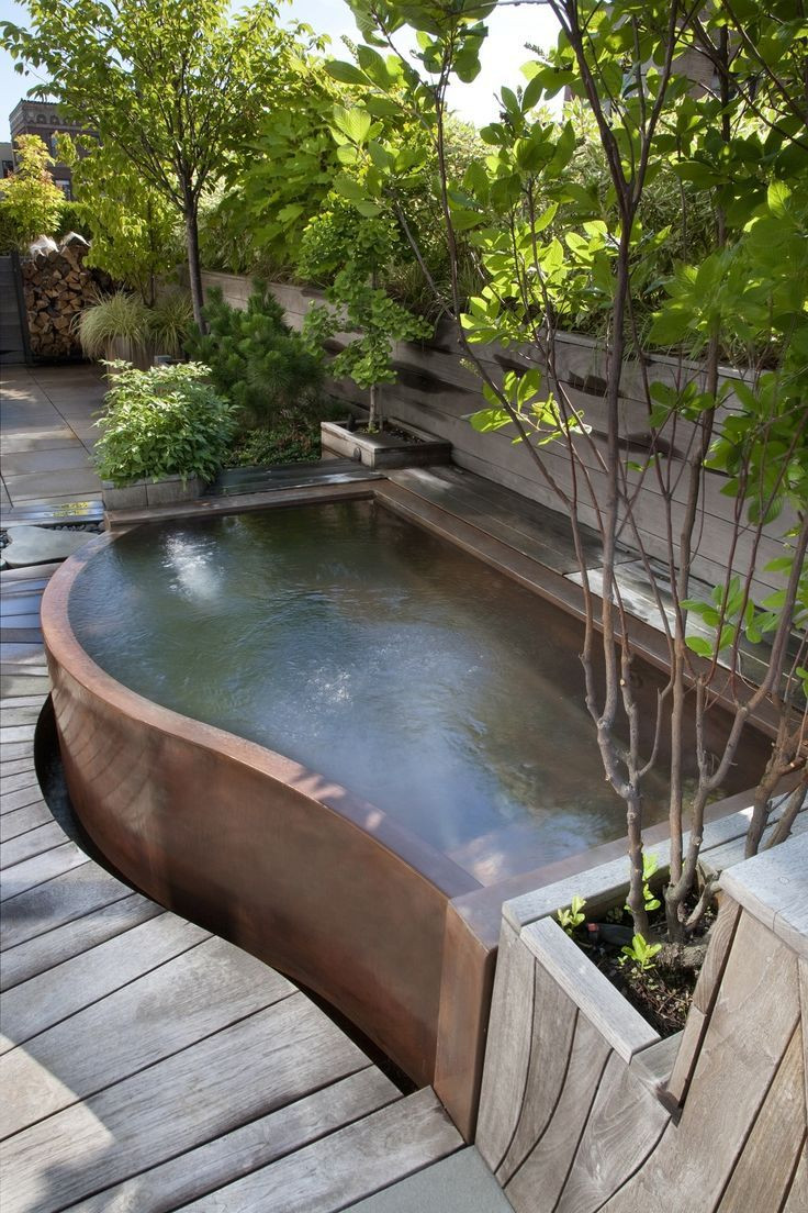 Best ideas about Outdoor Hot Tubs . Save or Pin Copper Hot Tub just in time for those cool fall night Now.