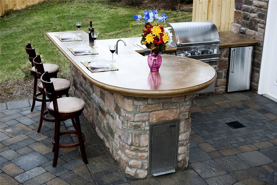 Best ideas about Outdoor Kitchen Countertops . Save or Pin Outdoor Countertops Landscaping Network Now.