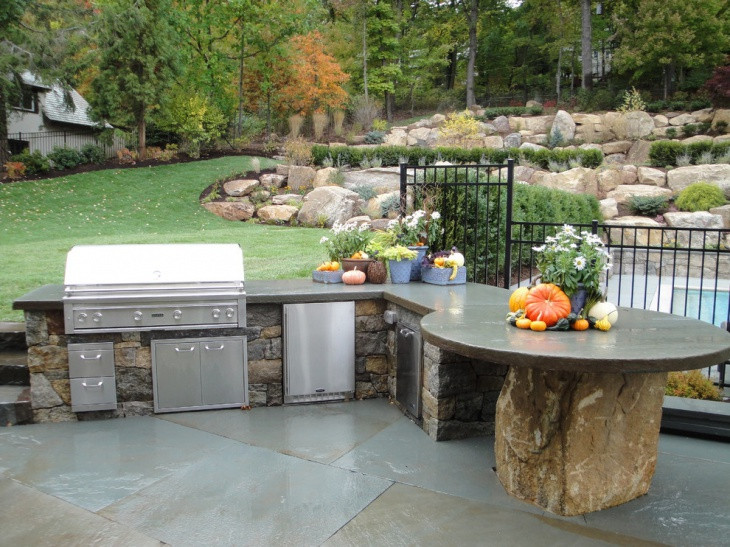 Best ideas about Outdoor Kitchen Countertops . Save or Pin 17 Outdoor Kitchen Countertop Designs Ideas Now.
