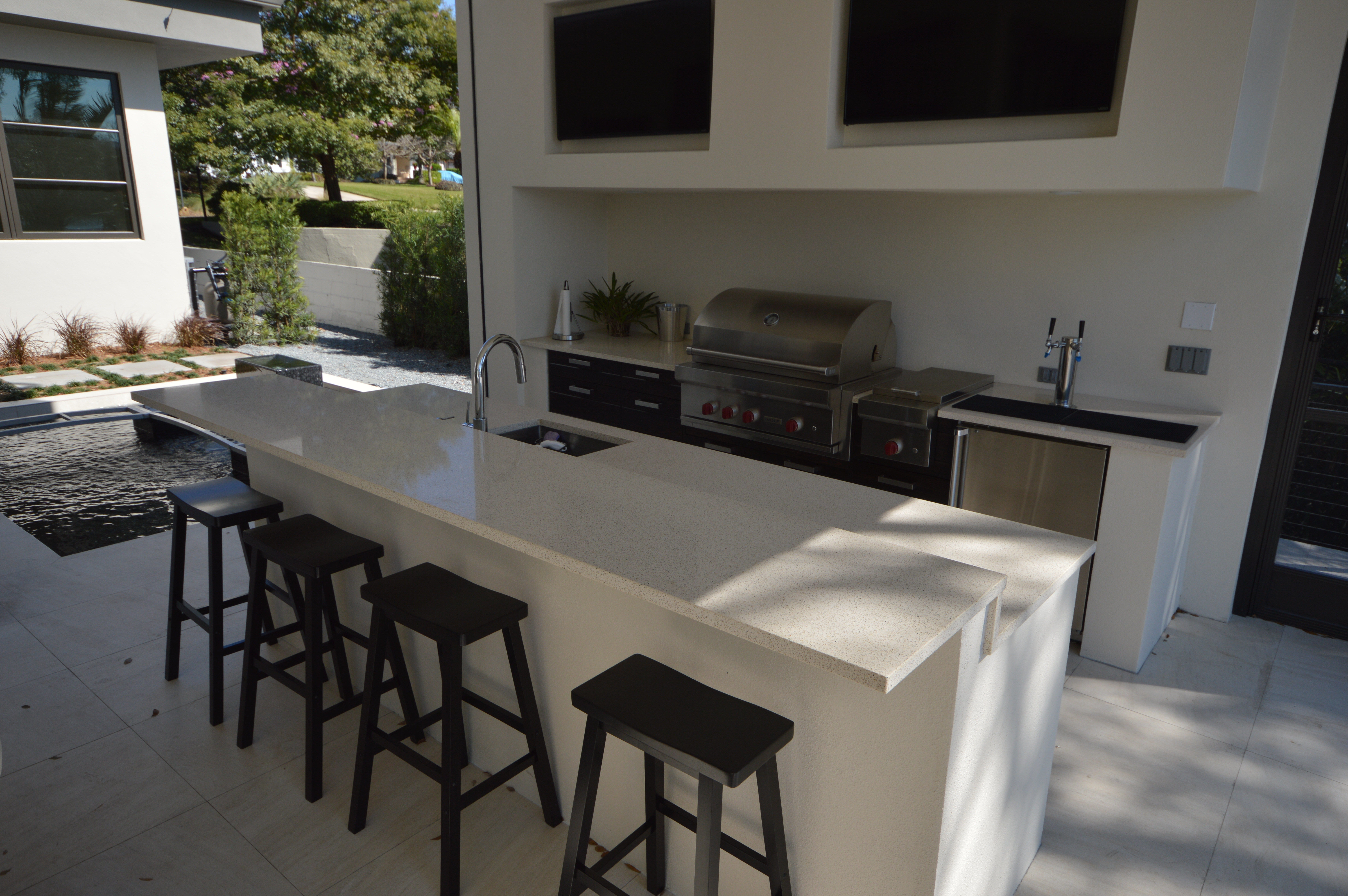 Best ideas about Outdoor Kitchen Countertops . Save or Pin Outdoor Kitchen Countertops Orlando Now.