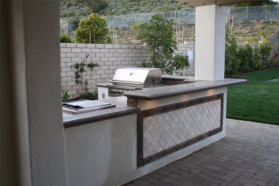 Best ideas about Outdoor Kitchen Countertops . Save or Pin Sizing Options for an Outdoor Kitchen Landscaping Network Now.