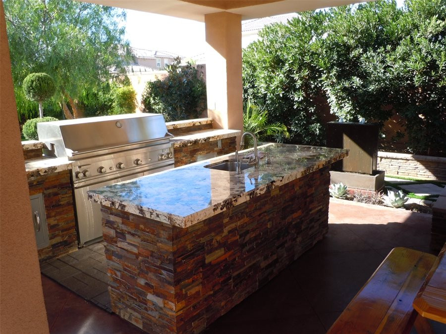 Best ideas about Outdoor Kitchen Countertops . Save or Pin Backyard Kitchen Tips Landscaping Network Now.
