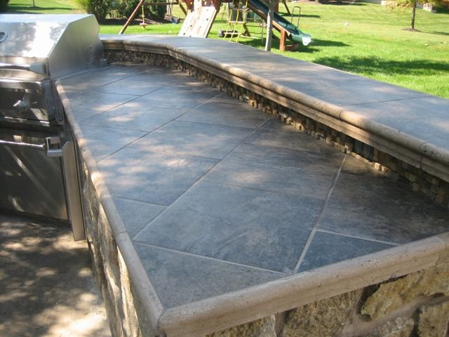 Best ideas about Outdoor Kitchen Countertops . Save or Pin Outdoor Kitchen Tile Countertop Now.
