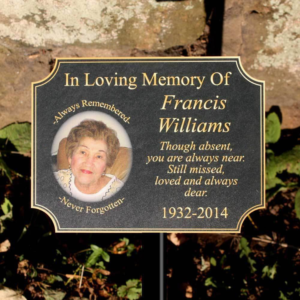 Best ideas about Outdoor Memorial Plaques . Save or Pin Outdoor Memorial Plaque Any Text Pet Grave Now.