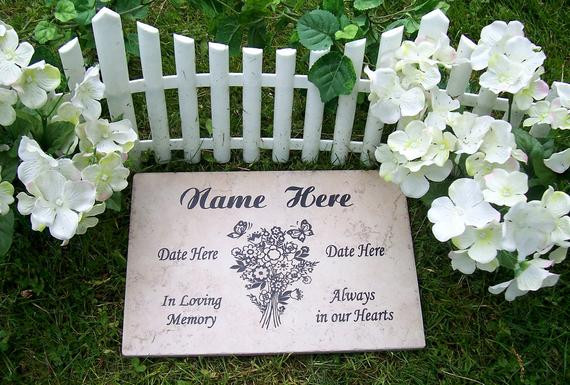 Best ideas about Outdoor Memorial Plaques . Save or Pin Bouquet Garden Memorial Plaque 12x8 Durable Weathered Now.