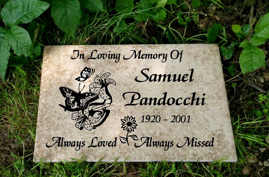 Best ideas about Outdoor Memorial Plaques . Save or Pin Garden Memorial plaque Maintenance Free Now.