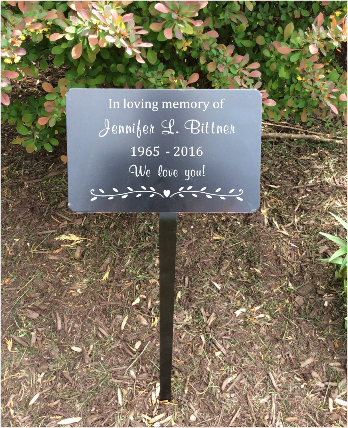 Best ideas about Outdoor Memorial Plaques . Save or Pin memorial plaque memorial tree marker metal plaques memorial Now.