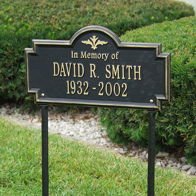 Best ideas about Outdoor Memorial Plaques . Save or Pin Custom Memorial Lawn Marker Now.