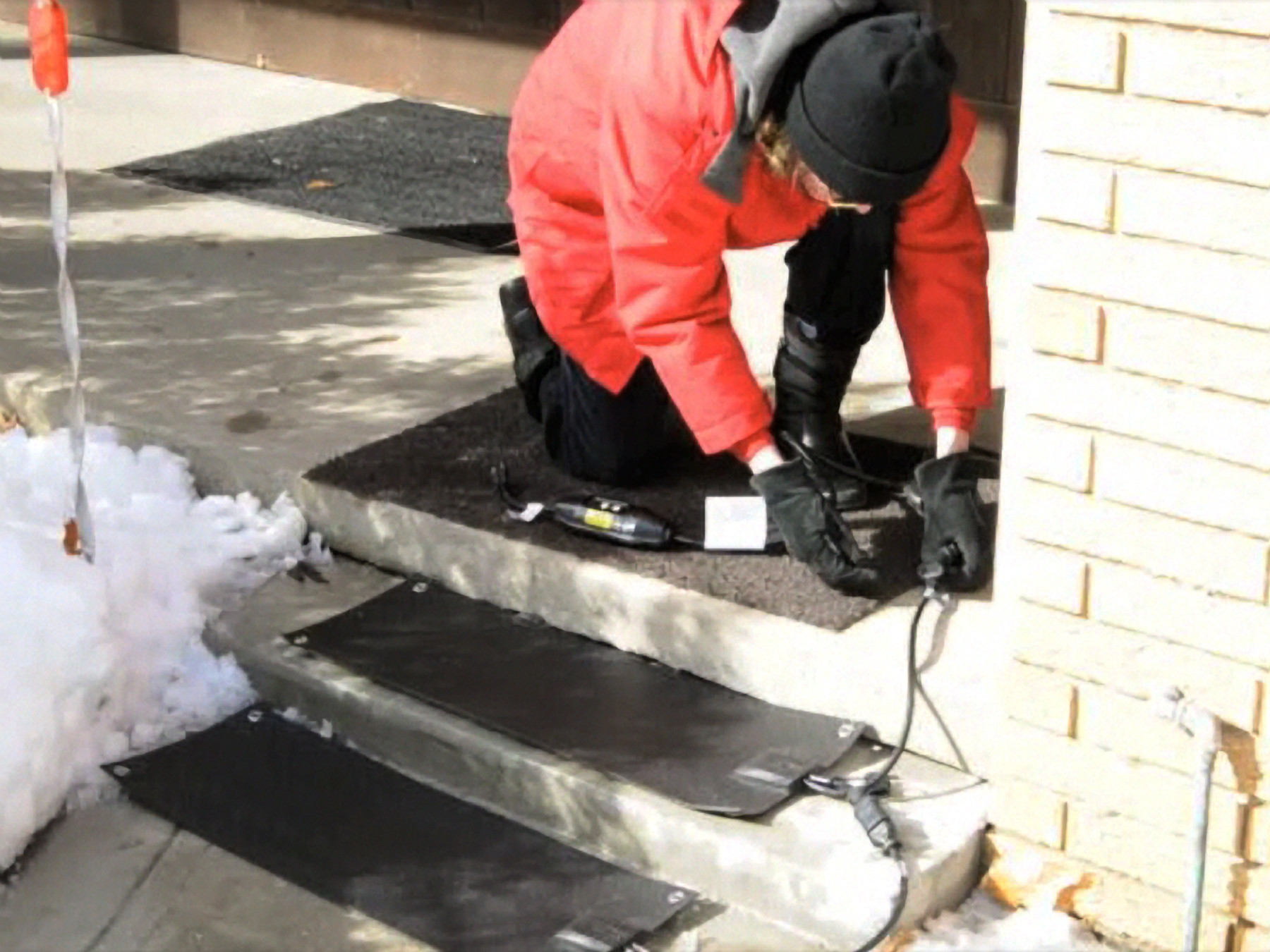 Best ideas about Outdoor Non-Slip Stair Treads For Snow . Save or Pin New Residential Heated Stair Tread Mats Melt Snow and Ice Now.