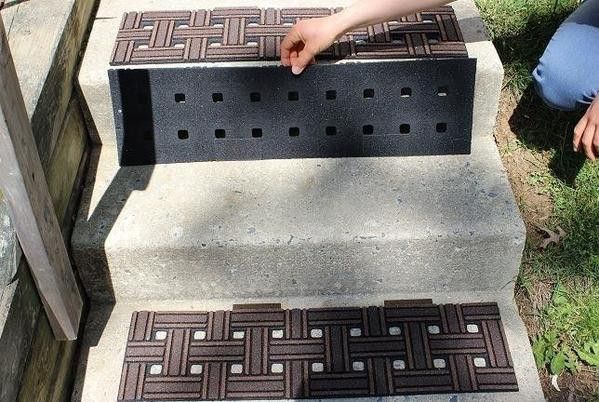 Best ideas about Outdoor Non-Slip Stair Treads For Snow . Save or Pin Fix Slippery Outdoor Stairs with No slip Mats – No slip Strip Now.