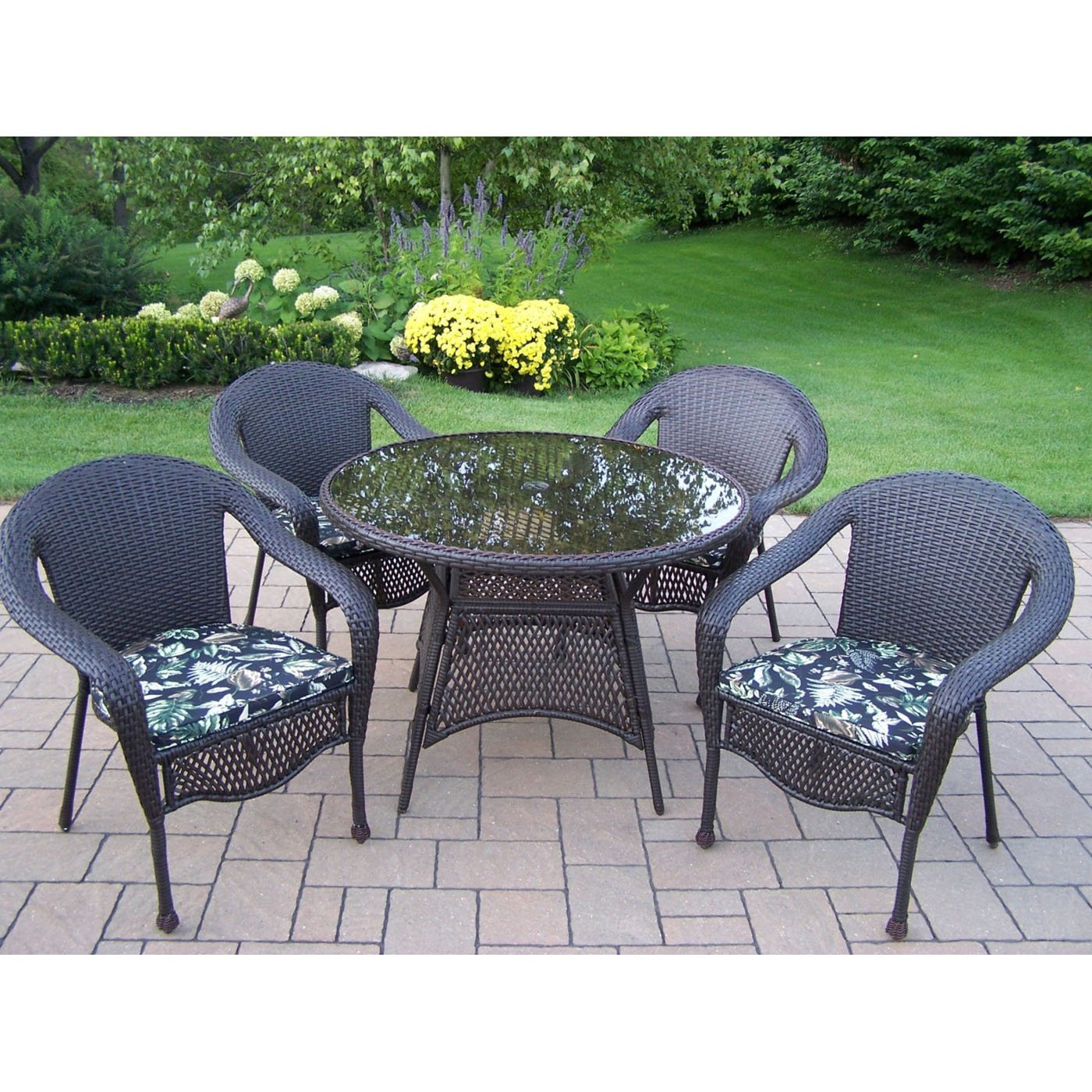 Best ideas about Outdoor Patio Dining Sets . Save or Pin Oakland Living 9 CF CU Elite Resin Wicker 5 Piece Now.