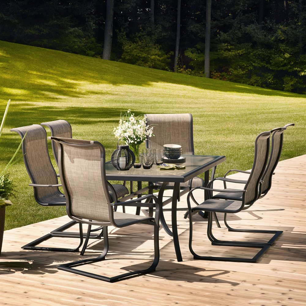 Best ideas about Outdoor Patio Dining Sets . Save or Pin Garden Treasures Halstead 7 Piece Dining Set Now.