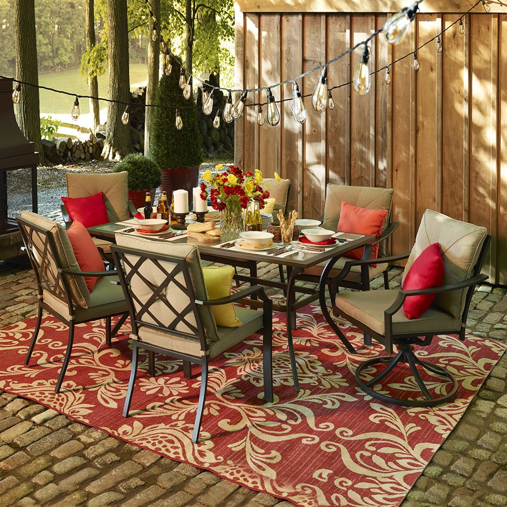 Best ideas about Outdoor Patio Dining Sets . Save or Pin Garden Treasures Vinehaven 7 Piece Dining Set Now.