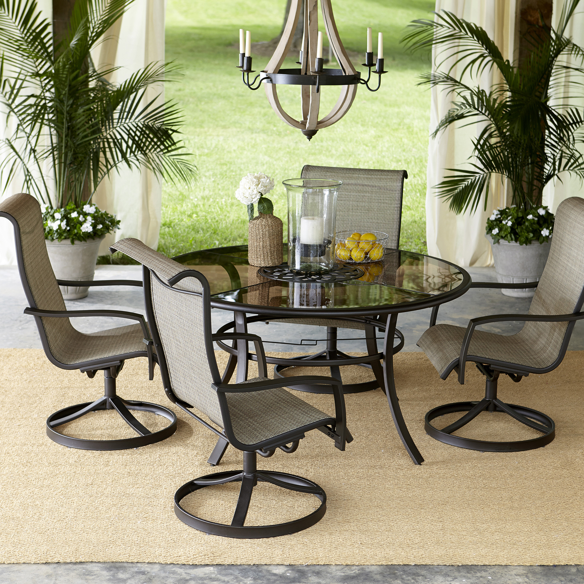 Best ideas about Outdoor Patio Dining Sets . Save or Pin Garden Oasis Providence 5 Piece Swivel Dining Set Now.