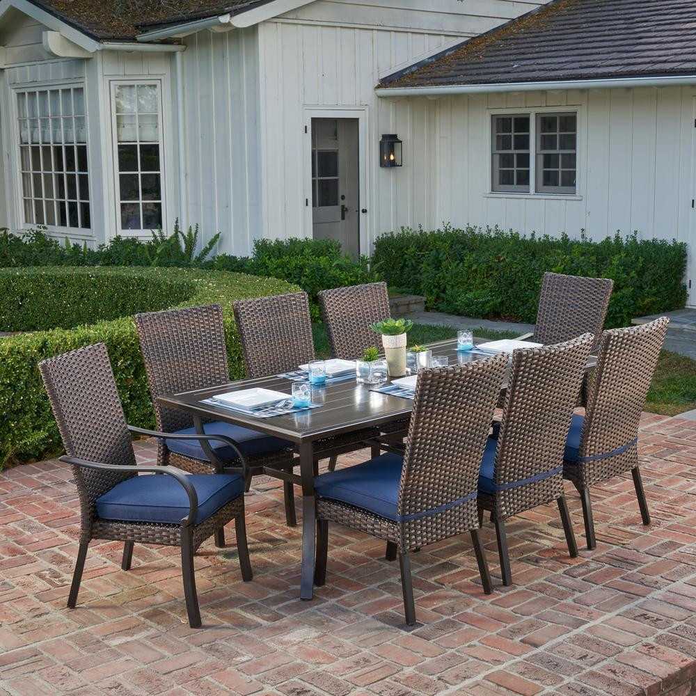 Best ideas about Outdoor Patio Dining Sets . Save or Pin Royal Garden Anacortes 9 Piece Aluminum Outdoor Dining Set Now.