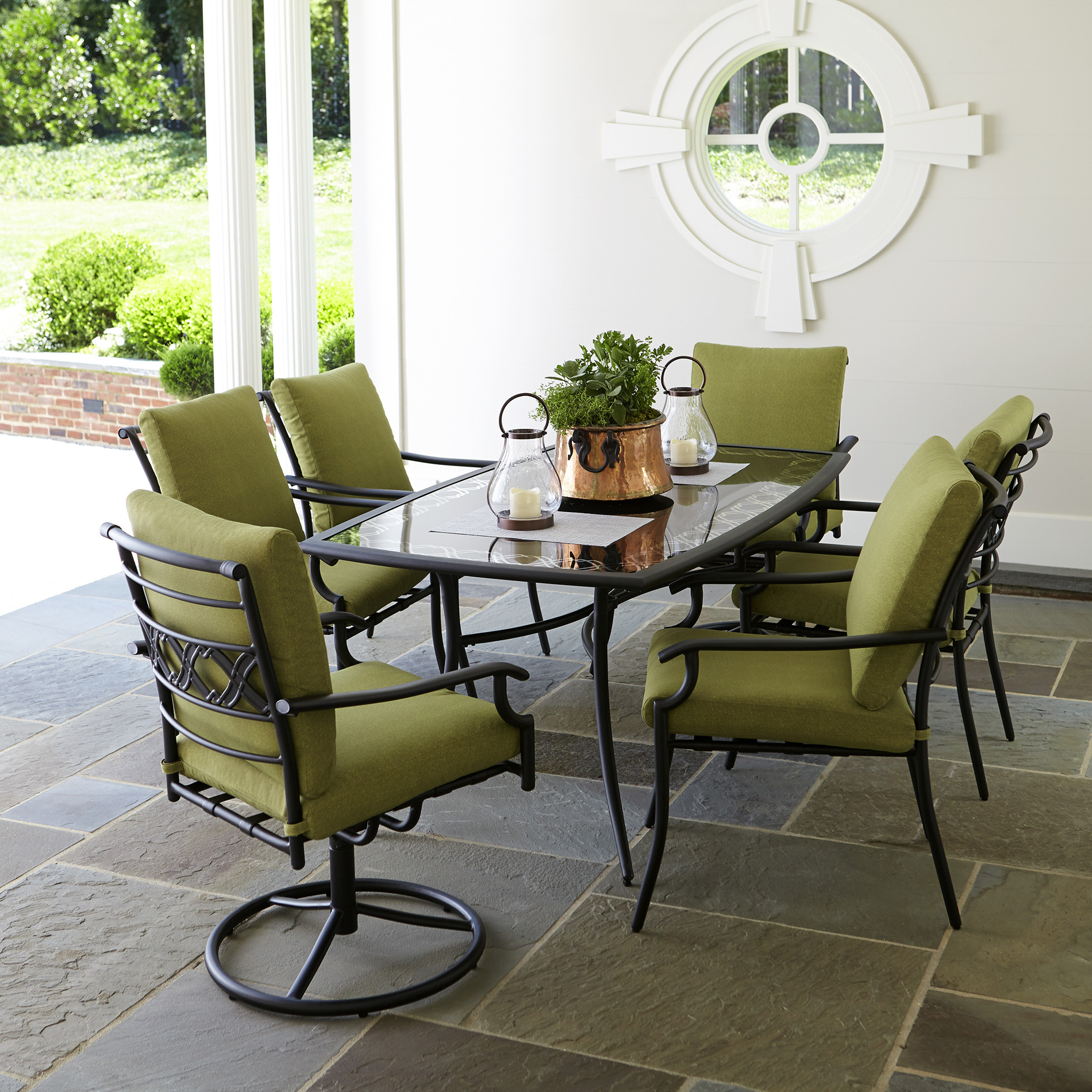Best ideas about Outdoor Patio Dining Sets . Save or Pin Garden Oasis Rockford 7pc Dining Set Green Now.