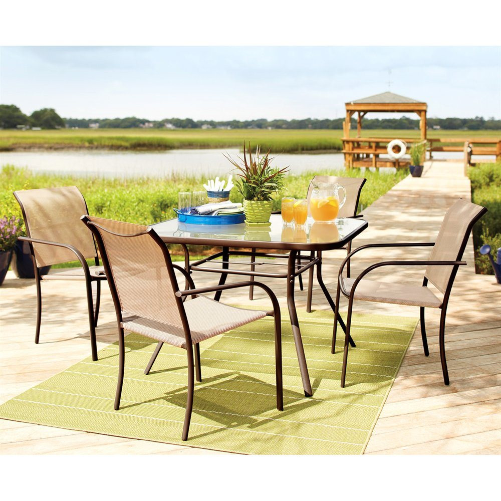 Best ideas about Outdoor Patio Dining Sets . Save or Pin Garden Treasures Ashville 5 Piece Dining Set Now.