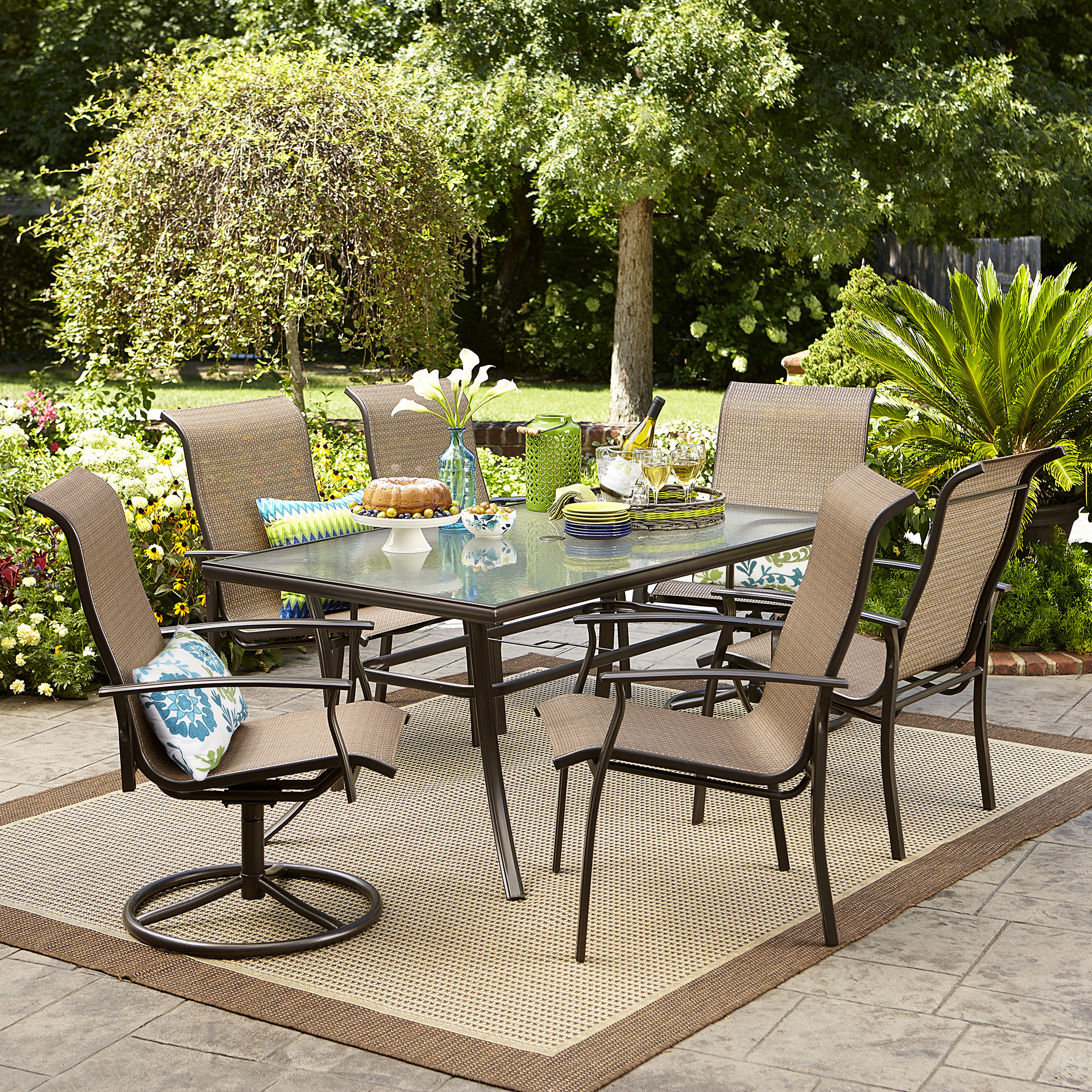 Best ideas about Outdoor Patio Dining Sets . Save or Pin Garden Oasis Harrison 7 pc Textured Glass Top Dining Set Now.