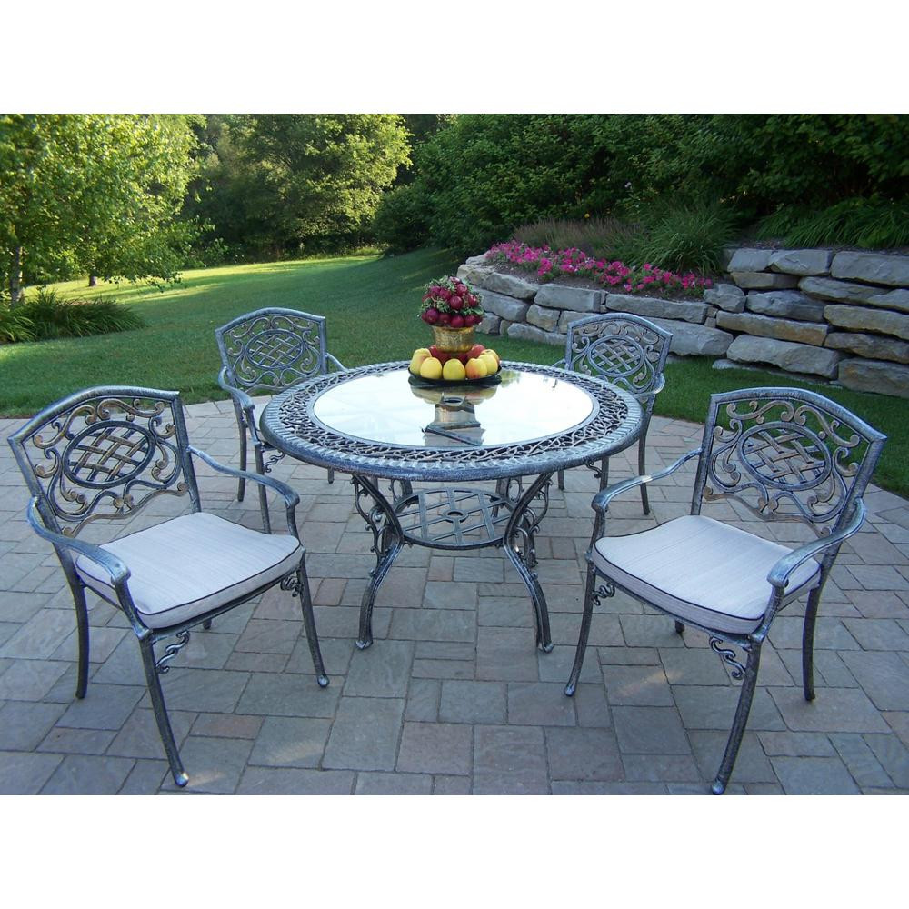 Best ideas about Outdoor Patio Dining Sets . Save or Pin Hanover Traditions 5 Piece Patio Outdoor Dining Set with 4 Now.