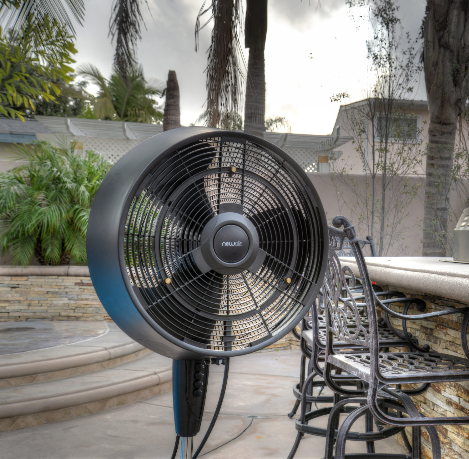 Best ideas about Outdoor Patio Fans . Save or Pin Amazon NewAir AF 520B Oscillating Outdoor Misting Fan Now.